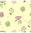 Elegance Seamless pattern with flowers Ukraine vector image