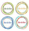 set of colorful abstract circles vector image