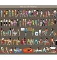 Big set of people vector image