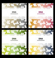 abstract dna structure medical science background vector image vector image