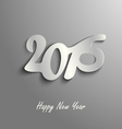 Abstract New Year wishes on a gray background vector image vector image