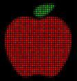apple halftone icon vector image