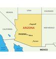 Arizona - map vector image vector image