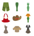 assembly flat icons clothes vector image vector image