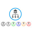 bank payments rounded icon vector image vector image