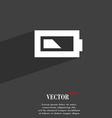 Battery half level icon symbol Flat modern web vector image vector image