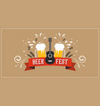 beer festival banner event poster promotion vector image vector image