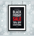 black friday sale posterseasonal salesale 70 off vector image