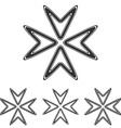 Black line arrow logo design set vector image vector image