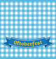 blue and white checkered seamless pattern germany vector image
