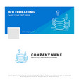 blue business logo template for coins finance vector image