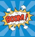 boom wording sound effect vector image vector image