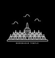 borobudur temple heritage building in indonesia vector image vector image
