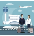 Business People Travel Airport Concept vector image vector image