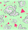 cactus seamless pattern design vector image
