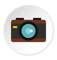 camera icon circle vector image vector image