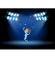 Center stage Tennis Player vector image vector image