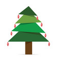 christmas tree with ball on it vector image vector image