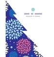 colorful bursts Christmas tree silhouette pattern vector image