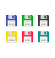 colorful icons floppy disk vector image vector image