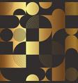 creative golden circle seamless pattern vector image vector image
