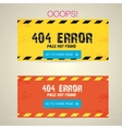 Creative page not found 404 error vector image