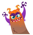 cute cartoon monster dragon vector image vector image