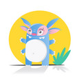 cute monster or alien isolated on white vector image