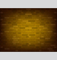 dark yellow brick wall realistic vector image vector image