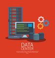 data center technology vector image vector image