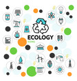 ecology line icons set vector image vector image