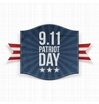 Eleventh September Patriot Day national Label vector image vector image