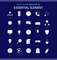 essential element white icon over blue background vector image vector image