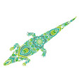 ethnic ornamental crocodile vector image