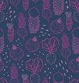 Fun beetroot and radish seamless pattern vector image vector image