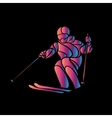 Giant Slalom Ski Racer silhouette Color vector image vector image