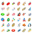 good business icons set isometric style vector image vector image