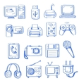 hand draw electronic vector image vector image