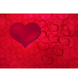 Heart sign on red background vector image vector image