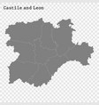 high quality map is a state spain vector image vector image