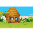 House in beautiful nature vector image vector image