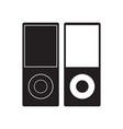 ipod icon music player flat sign vector image vector image