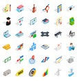 job contract icons set isometric style vector image vector image