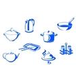 kitchen dishware vector image