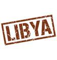 libya brown square stamp vector image vector image
