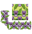 lilly border 2 380 vector image vector image