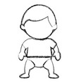 little baby boy character vector image