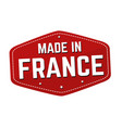 made in france label or sticker vector image