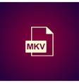 mkv file icon vector image vector image