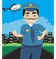 Night Patrol Police vector image vector image
